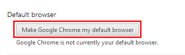 Chrome Settings - Change default browser