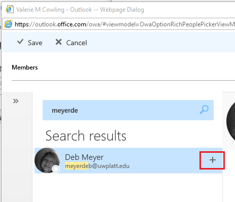 Office 365 - Modify members of a distribution list (OWA)