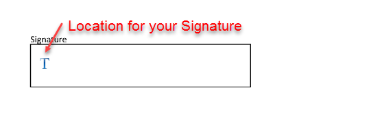 Location For Signature