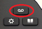 Messages button above settings and history buttons, circled in red