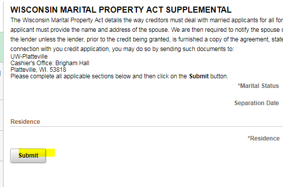 Martial Property Agreement