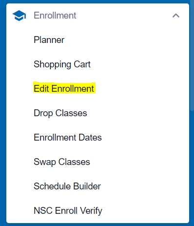 Edit Enrollment