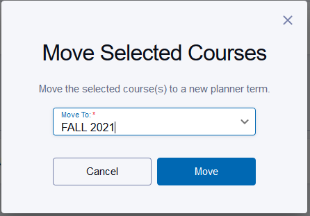 Select Term and Move