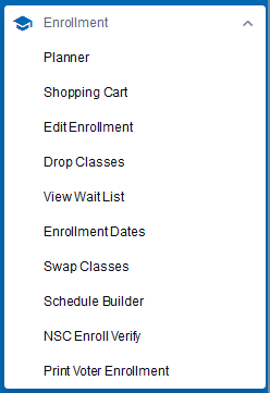 Enrollment Menu
