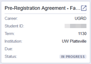 Pre-registration agreement
