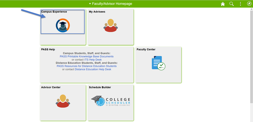 PASS Advisor Homepage image