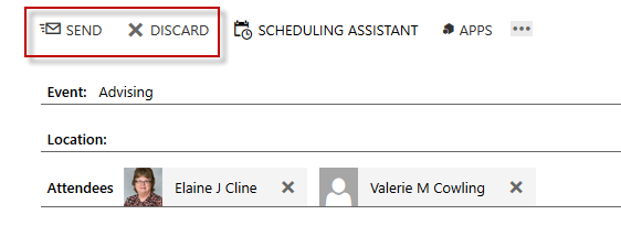 OWA Schedule Assistant Send
