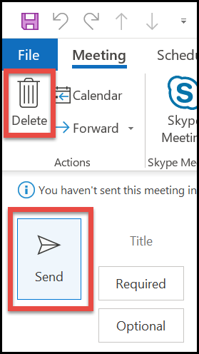 Send Meeting