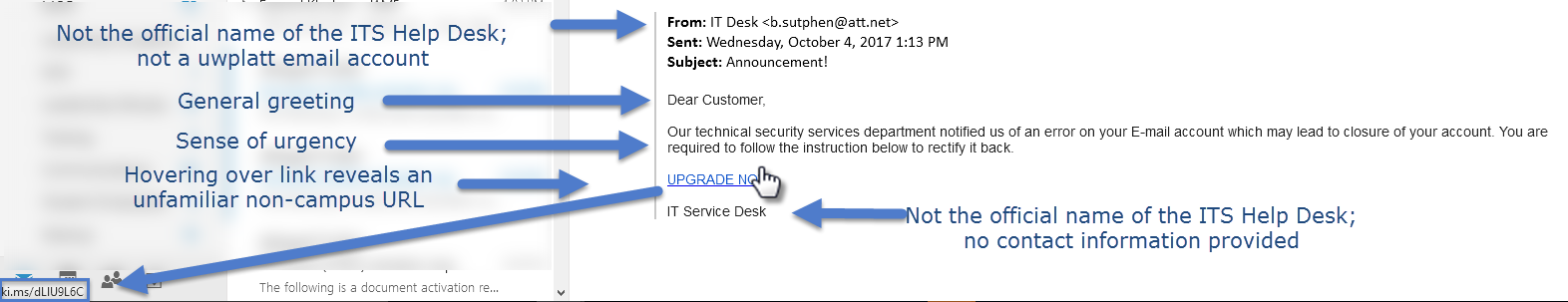Phishing attempt 1